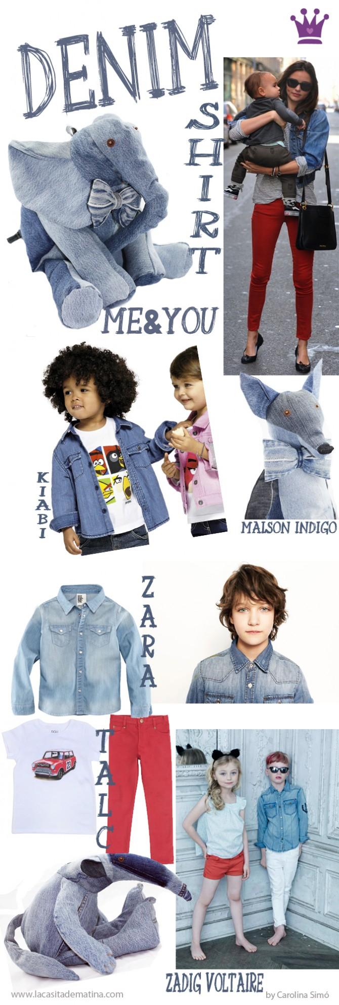 Tendencias Moda Infantil, Denim Shirt, Miranda Kerr, La casita de Martina, Blog de Moda Infantil, Carolina Simó