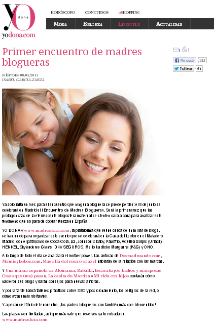 Evento Madresfera y Yo Dona 2013, Madresfera Madrid, La casita de Martina, Carolina Simó,  Blog de Moda Infantil