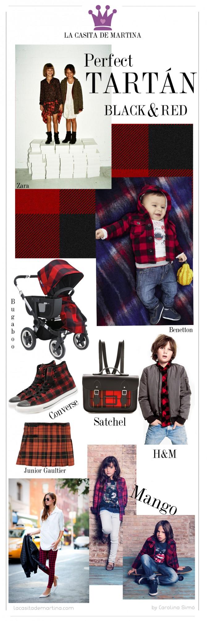 Tartán, Tendencias moda, H&M, Zara, Blog de Moda Infantil,  La casita de Martina