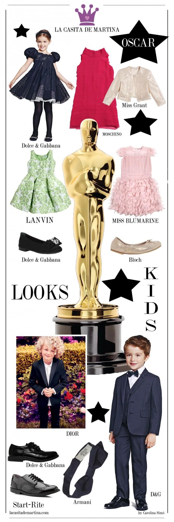 Oscars 2014, Moda Niños, La casita de Martina, Blog Moda Infantil, Ropa vestir niños