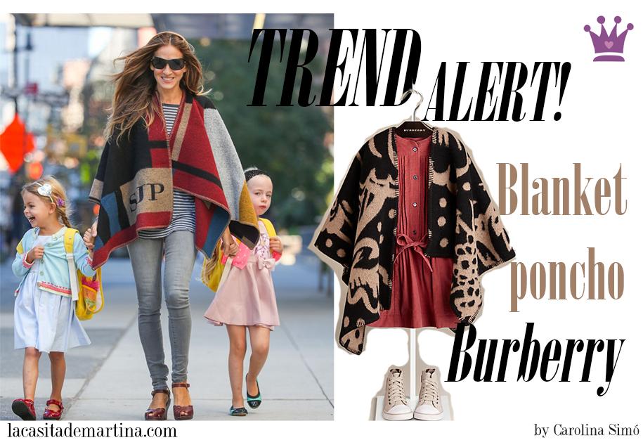 Poncho manta Burberry, Capa Burberry, Blog Moda Infantil, Blog Moda Bebé, Moda Infantil, La casita de Martina