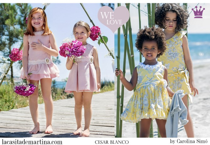 Cesar Blanco moda infantil, Blog Moda Infantil, Vestidos para niñas, Ropa Niños, La casita de Martina, Moda Infantil verano