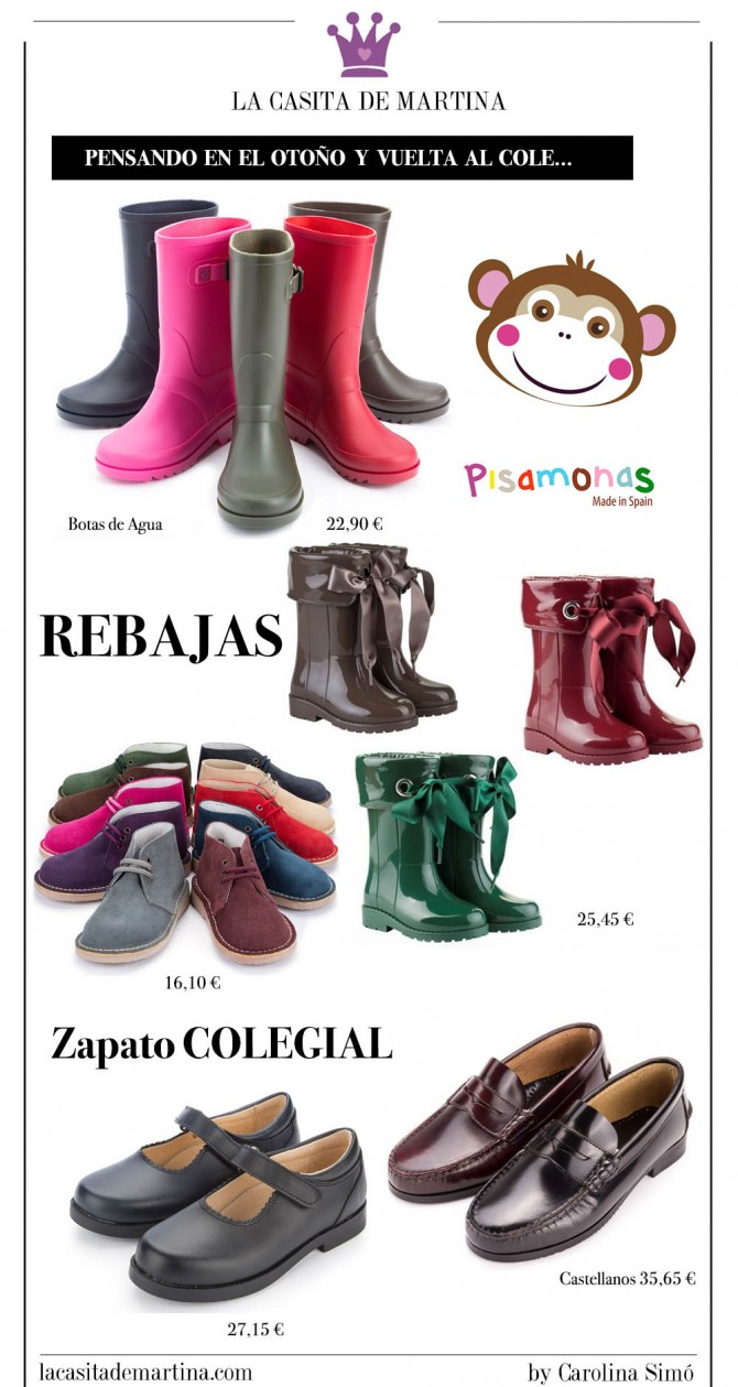 Calzado Infantil, Zapatería online niños, Pisamonas, Blog Moda Infantil, La casita de Martina
