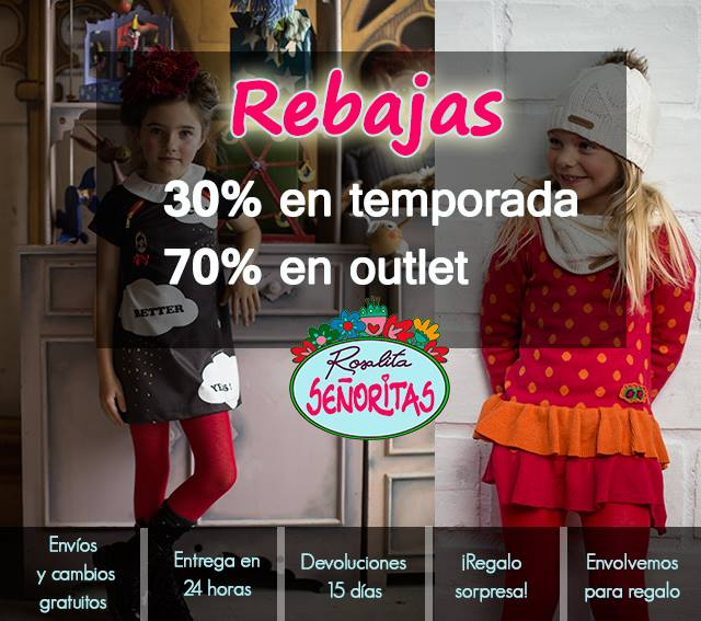 Rosalita Señoritas, Rebajas Moda Infantil, La casita de Martina, Blog de Moda Infantil, Carolina Simo
