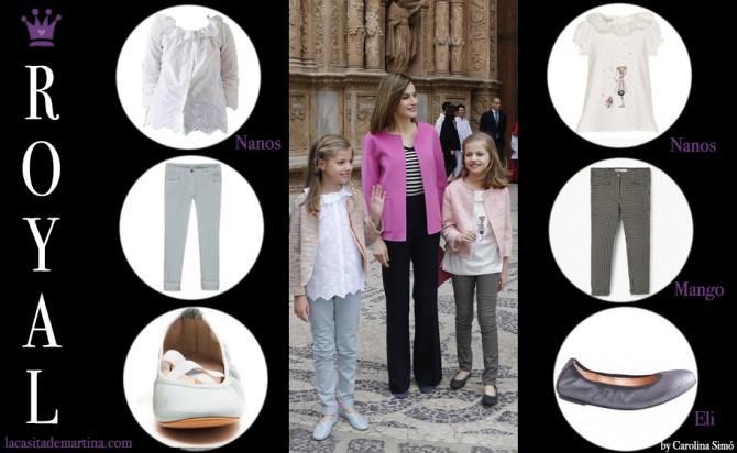 ropa Princesa Leonor, Infanta Sofia, reina Leticia, Misa de Pascua, Blog de Moda Infantil, 7