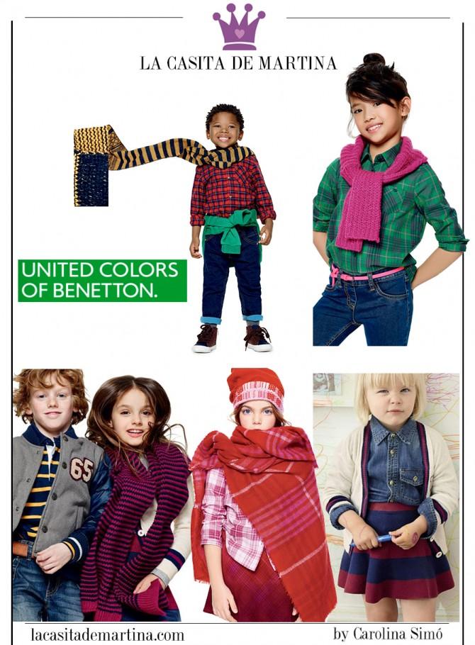 Vuelta al Cole, Moda Infantil, Ropa niños colegio, La casita de Martina, Benetton, Kids Wear
