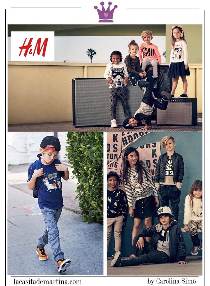 Vuelta al Cole, Moda Infantil, Ropa niños colegio, La casita de Martina, HM, Kids Wear