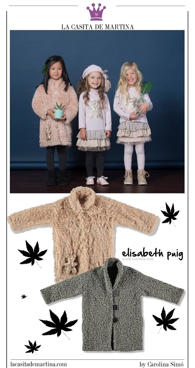 Abrigos moda infantil, La casita de Martina, Elisabeth Puig, Kids Wear