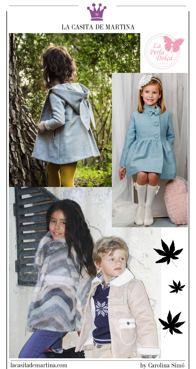 Abrigos moda infantil, La casita de Martina, La perla dolsa, Kids Wear, tienda de moda infantil