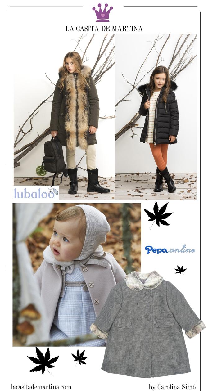 Abrigos moda infantil, La casita de Martina, Lubaloo, Boutique Peppa, Kids Wear, tienda de moda infantil
