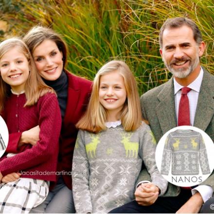 Felicitacion de navidad casa real española, Marca ropa leonor y sofia, blog de moda infantil, La casita de Martina, Carolina Simo