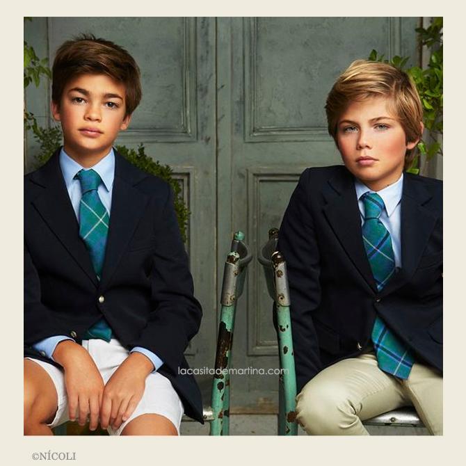 Como hacer el nudo de la corbata, corbatas para ninos, blog de Moda Infantil, Nicoli