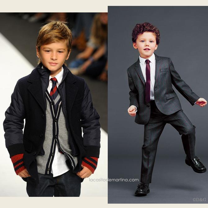 Como hacer el nudo de la corbata, corbatas para ninos, blog de Moda Infantil, Dolce Gabbana