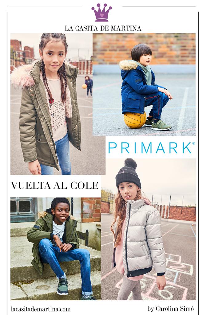 Moda infantil vuelta al cole, Primark, La casita de Martina, Blog Moda Infantil