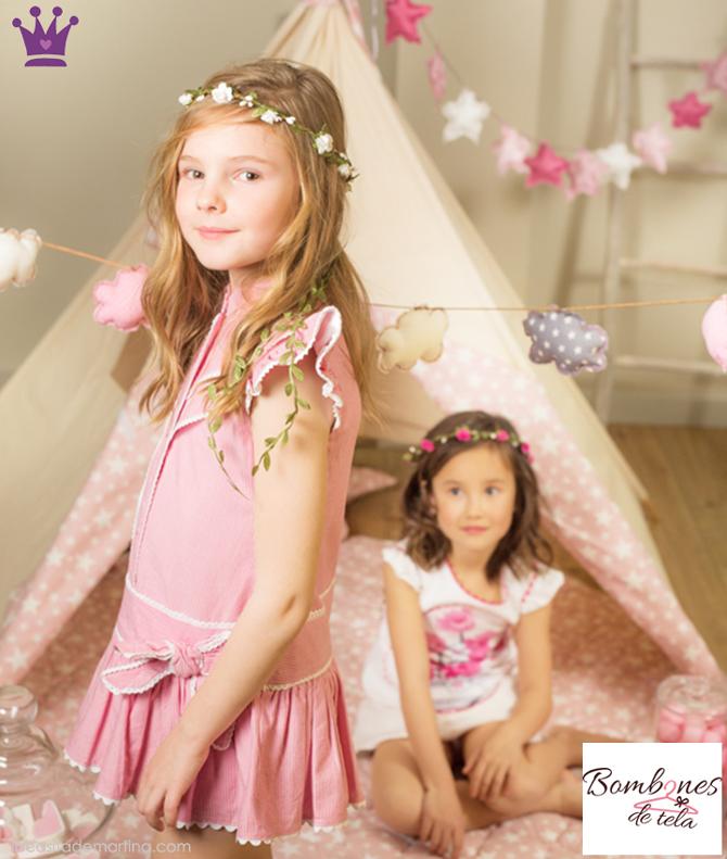 Bombones de tela, moda infantil segunda mano, ropa de marca segunda mano, ropa infantil, 1