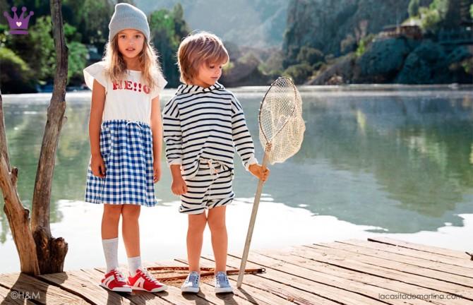 Blog de moda infantil, vestido de rayas, estilo marinero, marcas moda infantil, la casita de martina, HM