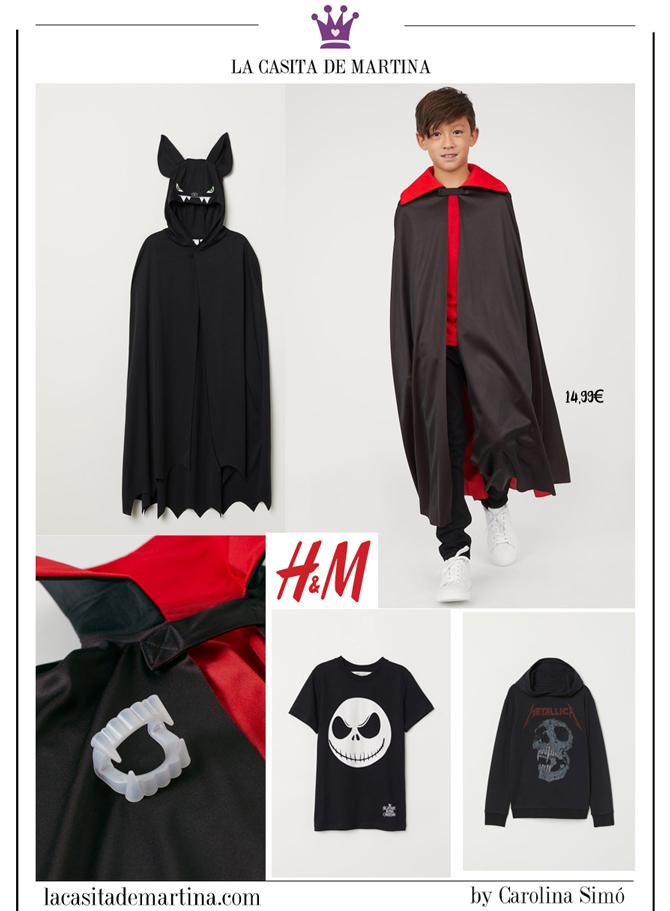 Disfraces baratos Halloween, disfraces originales halloween, blog moda infantil, la casita de Martina, hm, 2