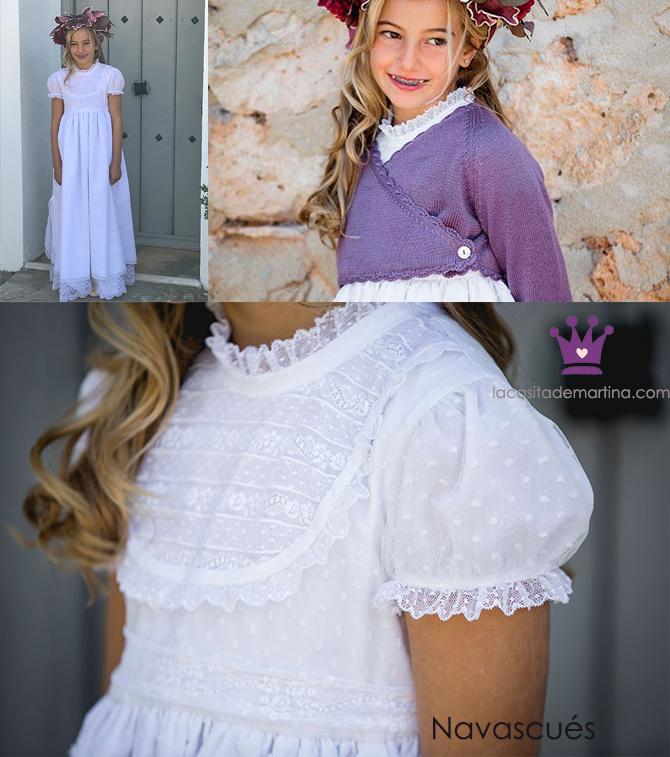 Vestidos comunion 2019, trajes comunion Navascues, Blog Comuniones, La casita de Martina, 1