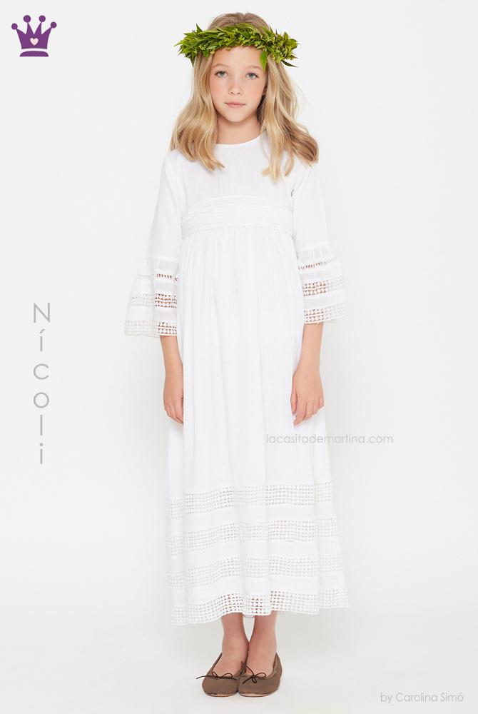 blog moda infantil, vestidos comunion Nicoli, La casita de Martina, Trajes comunion 2019, comunion